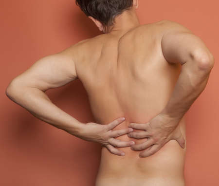 Adult man having pain in his back  Stock Photo - 15857893