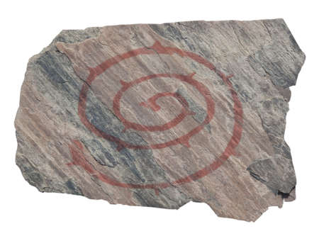 Old spiral petroglyph. Bronze age  photo