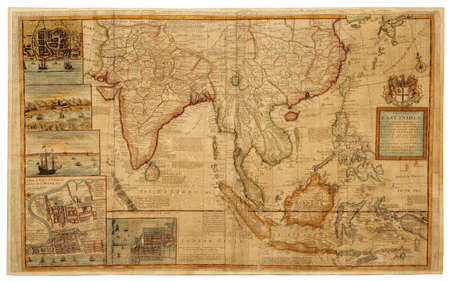 ceylon: Old map  1687    A MAP OF THE EAST-INDIES