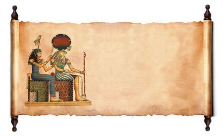 horus: Despl�cese con im�genes de dioses egipcios - Fara�n y Horus. Objeto m�s blanco