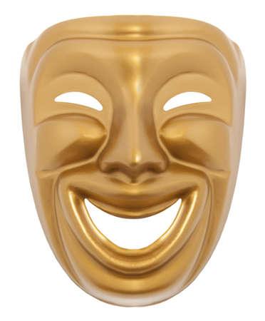 Comedy theater masker geïsoleerd op een witte achtergrond