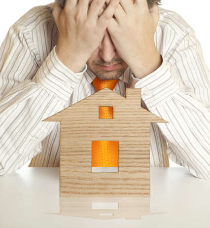 entered: The mortgage crisis has entered a man in depression