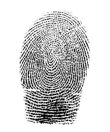 allegory painting: Real fingerprint in white background Super macro