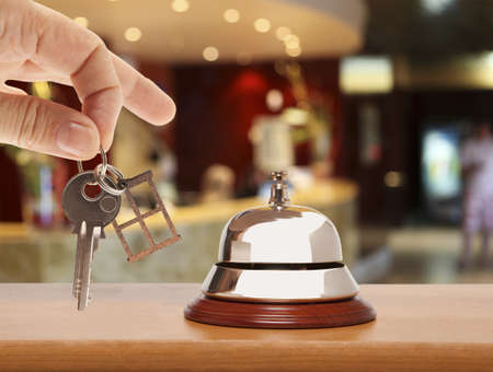 ring tones: Service bell at the hotel Stock Photo