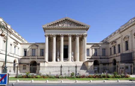 Gerechtsgebouw van Montpellier, Frankrijk, Languedoc-Roussillon