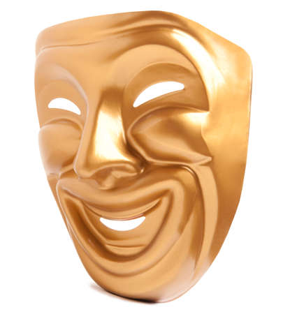 histrionics: Comedy  theatrical mask isolated on a white background