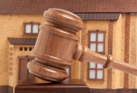 lien: Property offered for sale by a court