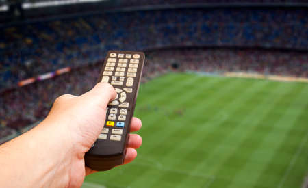 streichholz: Gerade Fußball-Spiel im Fernsehen