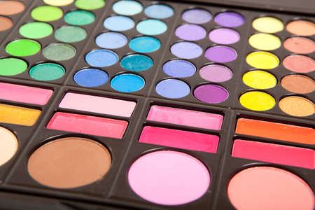 Makeup colorful eye shadow palettes  photo