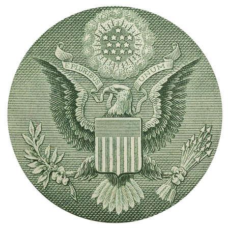Dollar eagle banknote close up photo