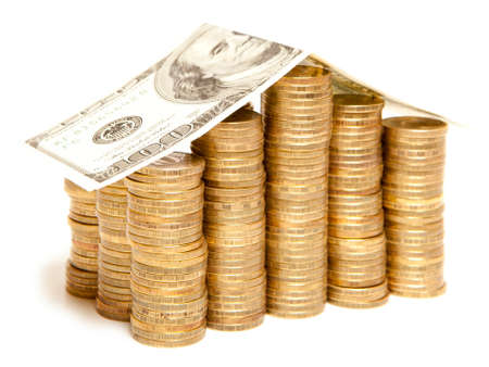 real estate investment: Real estate finance investment currency coin house