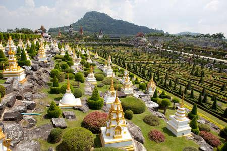 pattaya thailand: View of  Nong Nooch Tropical Garden in Pattaya, Thailand