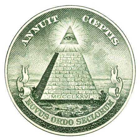 The Great Seal of the United States from the reverse of a one dollar bill photo