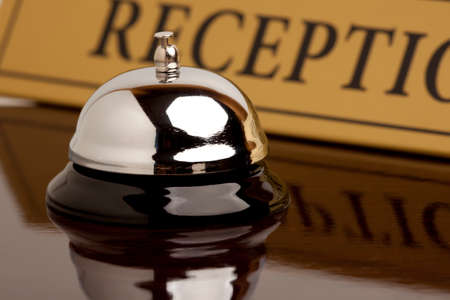 Service bell at the hotel Stock Photo