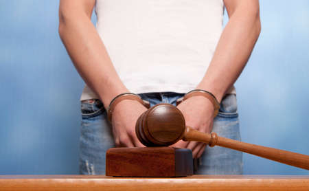 restraints: The arrest of the offender in the courtroom