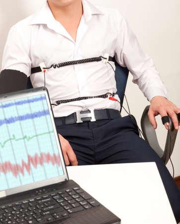 A man passes a lie detector test