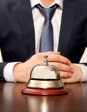 Hotel Concierge. Service bell at the hotel photo