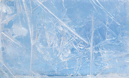 Textured ice blue frozen rink winter background Stock Photo