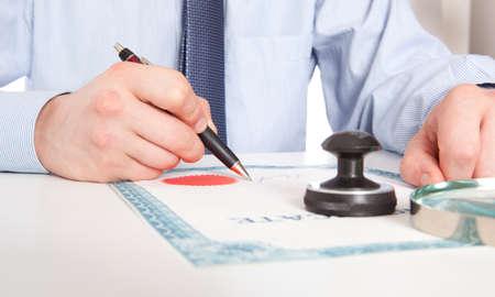 documentos: Abogado, signos de notario los documentos de nuestra oficina