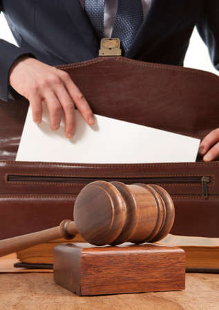 lawyer in court: Caucasian lawyer in court Stock Photo