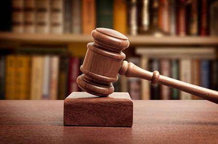 The gavel of a judge in court Archivio Fotografico