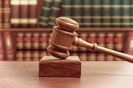 legislator: The gavel of a judge in court Stock Photo