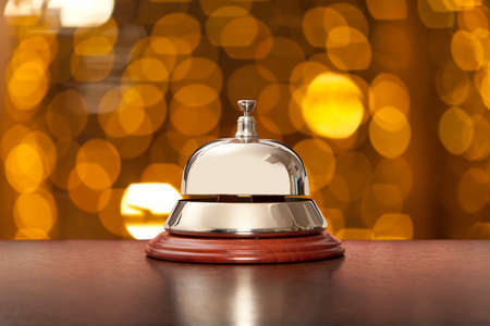 reception: Hotel Concierge. Service bell at the hotel