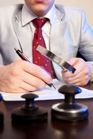 notary: Lawyer, notary signs the documents from our office