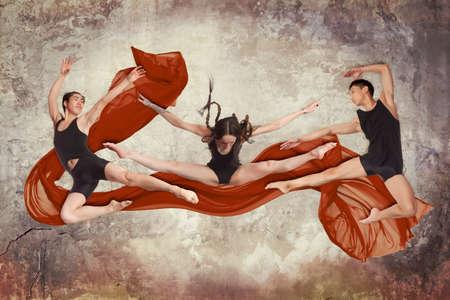 group of modern ballet dancers