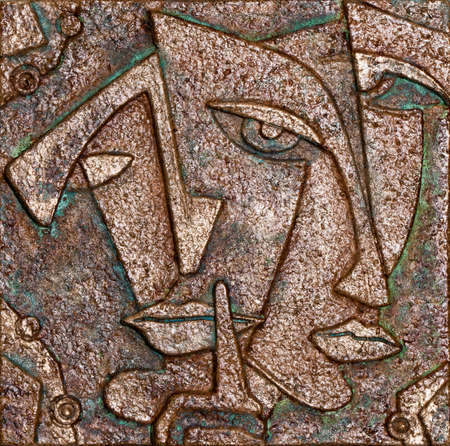 Portrait of a woman in cubism art