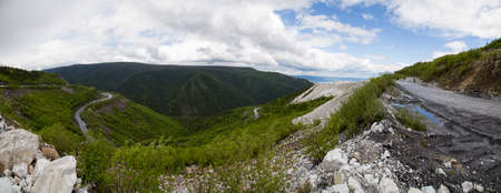 panorama from the top point of the marble quarry
