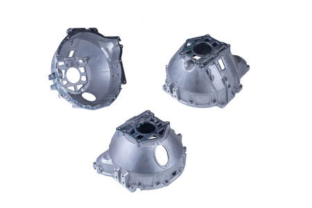 the clutch housing of the vehicle, isolated on white background