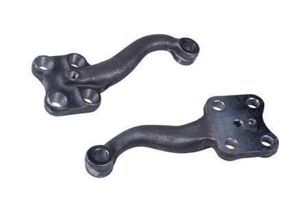 car wheel control, steering knuckle lever on white background Фото со стока