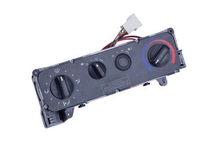 Climate control dashboard unit, ventilation, temperature panel, buttons
