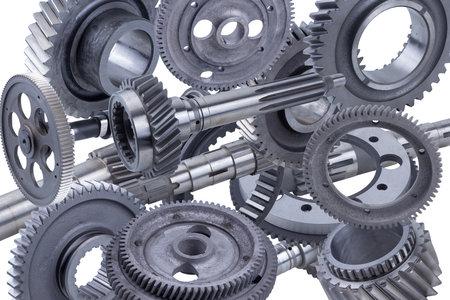 Gear motor machine parts of automotive machinery Banque d'images