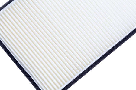 truck air filter, white color, close-up, texture, background. spare parts