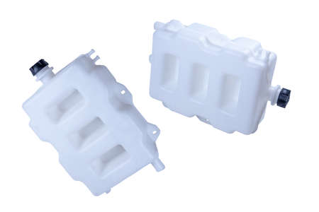 windshield washer tank for truck mounting, insulated on white background