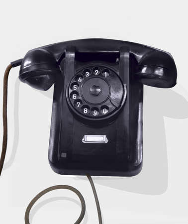 Old phone with a shade. 1950. Stock Photo - 2584990