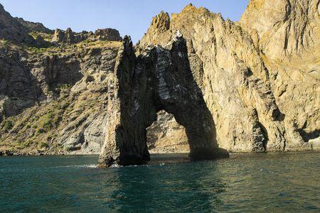 Golden gate rock, Kara-Dag Mountains, Crimea Russia