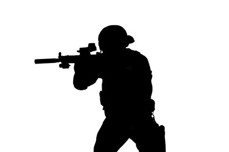 Vector image of a SWAT fighter. Imagens - 115859677