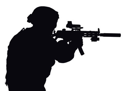 Vector image of a SWAT fighter. Imagens - 115859738