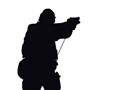 Vector image of a SWAT fighter.