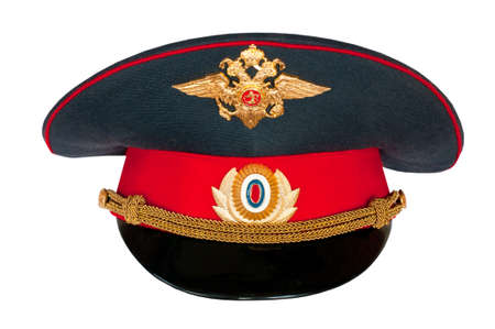 Peak-cap of the Russian policeman