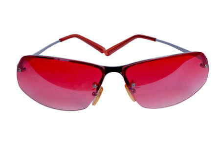Pink glasses on a white background Stock Photo - 15614201