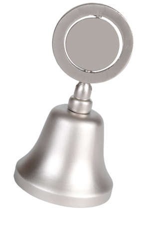 reverberate: Hand Bell isolated on a white background