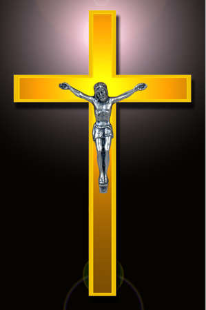Catholic Golden cross, Christian Symbol