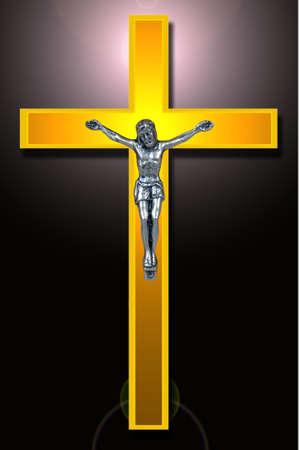 mormon:  Catholic Golden cross, Christian Symbol