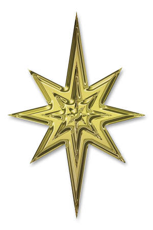 orientate: gold star Stock Photo