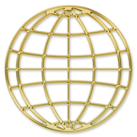 gold ball: Globe