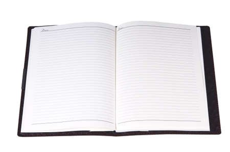 a blank address book isolated on white stock photo picture and